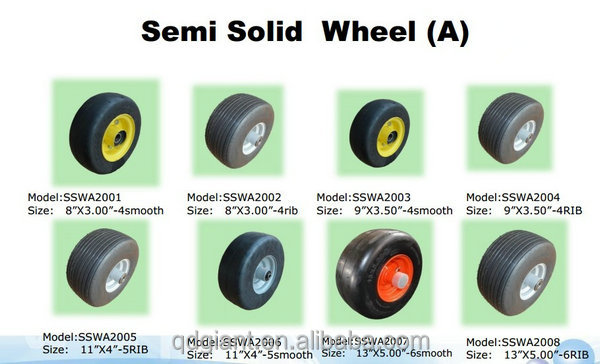 "Commercial lawn mower semi-solid wheel 13""*650-6"