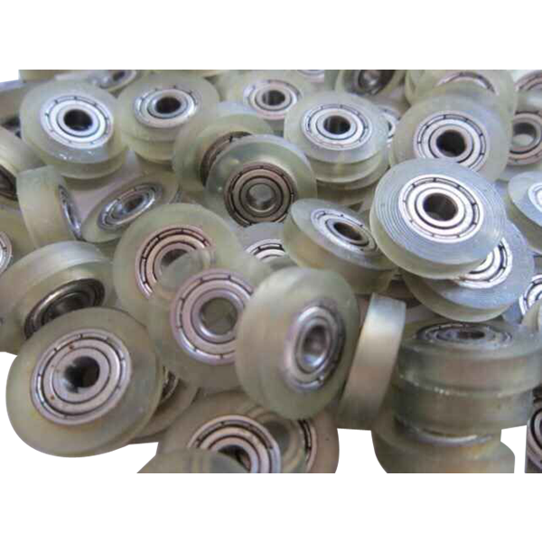 POM plastic ball bearing with glass ball bearingplastic pulley v groove wheel bearing