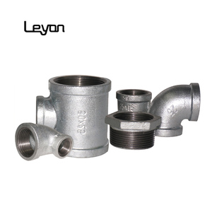 gi elbow tee 5 way cross pipe fitting galvanized malleable iron pipe fitting 1 inch pipe fittings