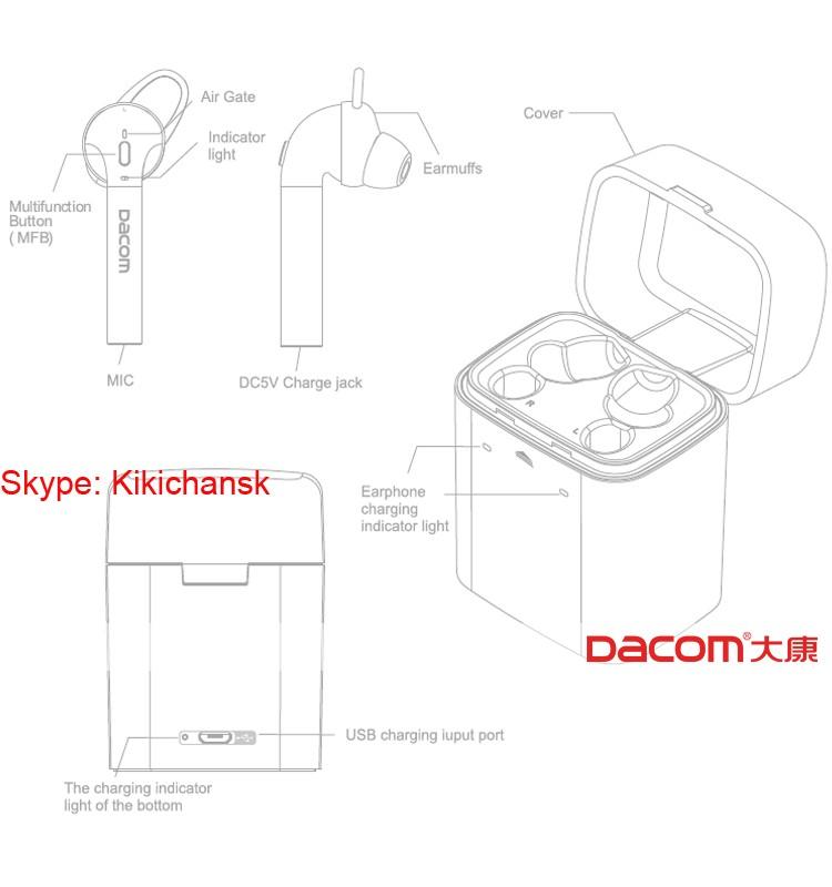 Original Factory Dacom For Airpods Wireless Headphones Tws