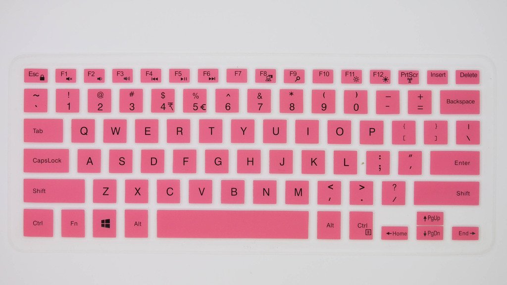 HYAIT 1Pcs Colorful Silicone Keyboard Protector Skin Cover for Dell Inspiron 14 3446/3447,14C/14(3000/5000 Series),14MR/MD/M SEMI-PINK
