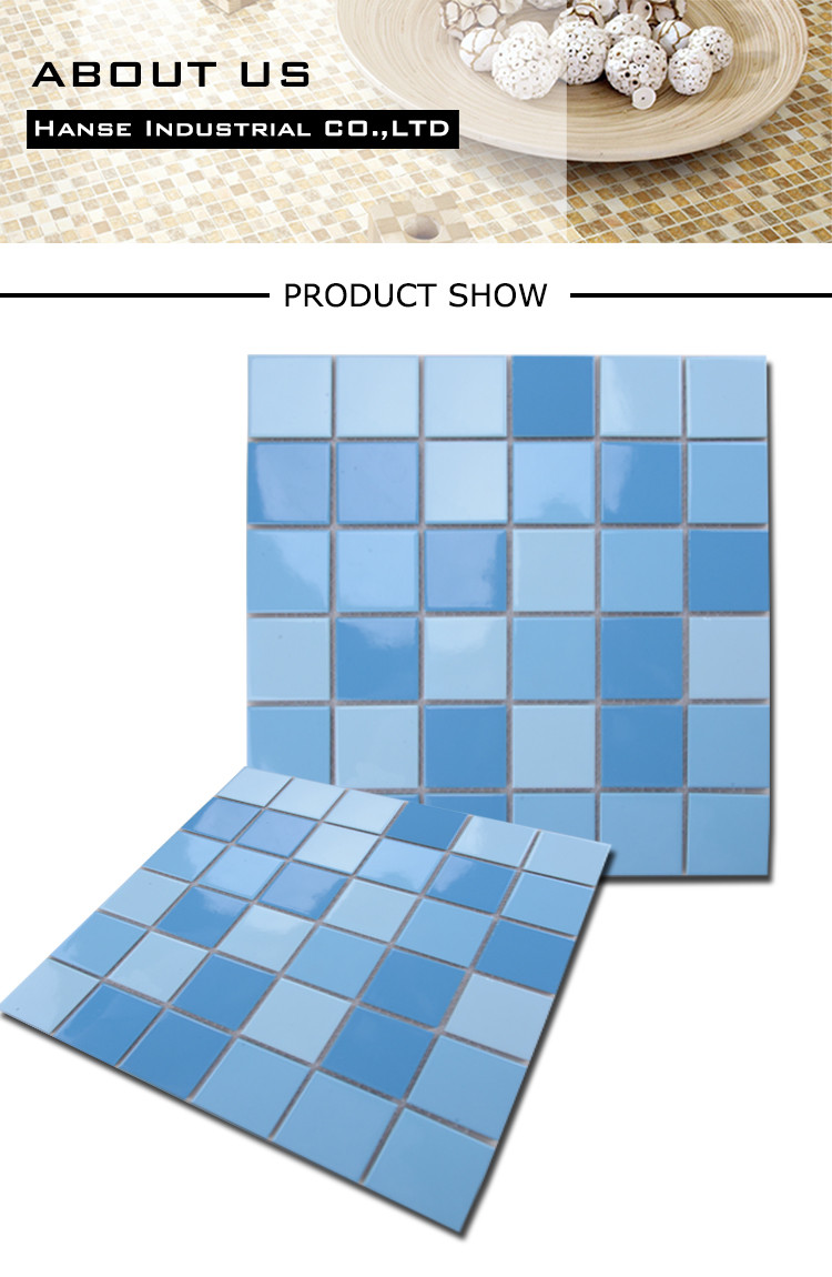 Decorative swimming pool tiles blue for sale ceramic Swimming pool decorative tiles