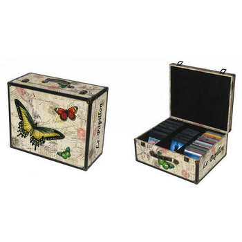hot selling antique cd and dvd organizer storage box