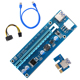 PCI-E Riser 009s Cable PCIE Riser Card x16 USB Adapter 16x to PCI Converter Express Molex Sata 6pin