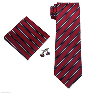 New Design Cheap Custom Necktie Low MOQ Mens Slik Tie Set
