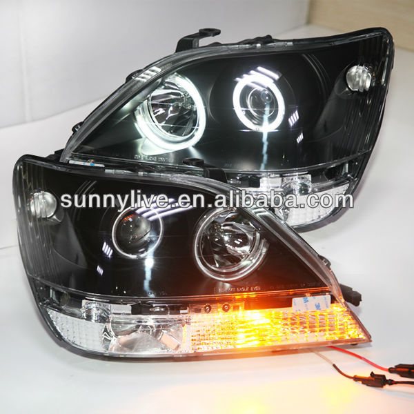 For TOYOTA Herrier Kluger Angel Eyes Head Lamp Lexus RX330 RX300 R350 1998 - 2002 year