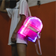 2019 korea clear mini LED backpack pvc clear holographic girls shiny backpack