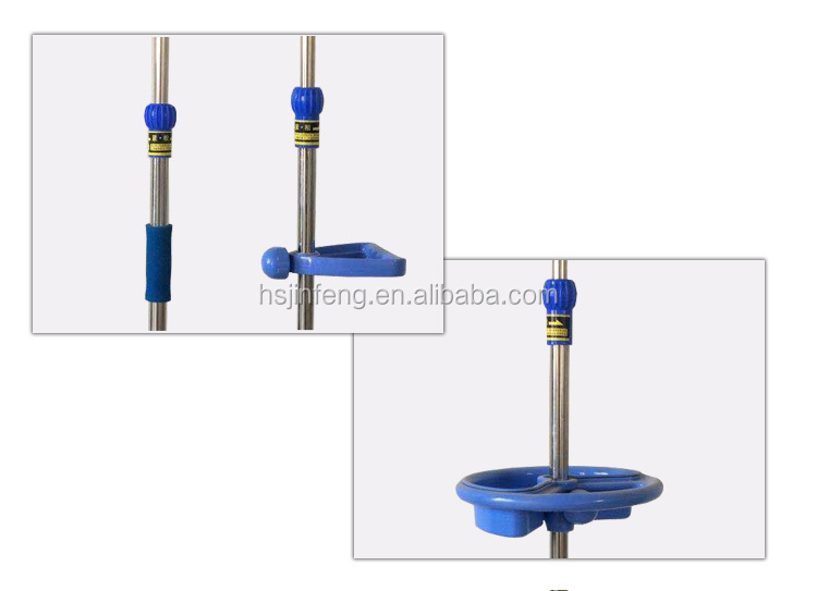 Health care height adjustable 5 legs collapsible portable hospital iv pole or iv stand
