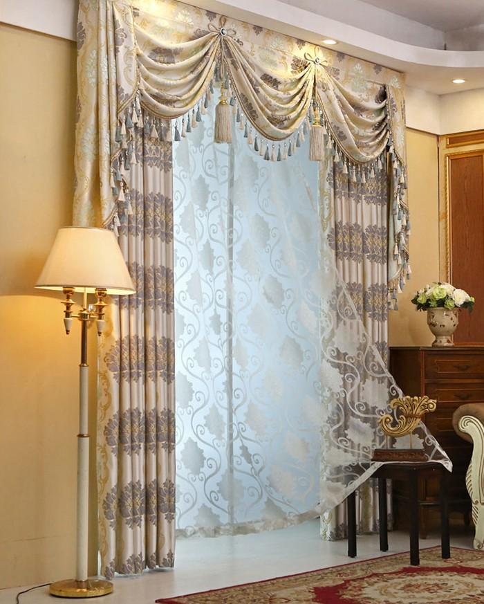 Corredera vintage cortina de ventana de palacio estilo for Cortinas vintage