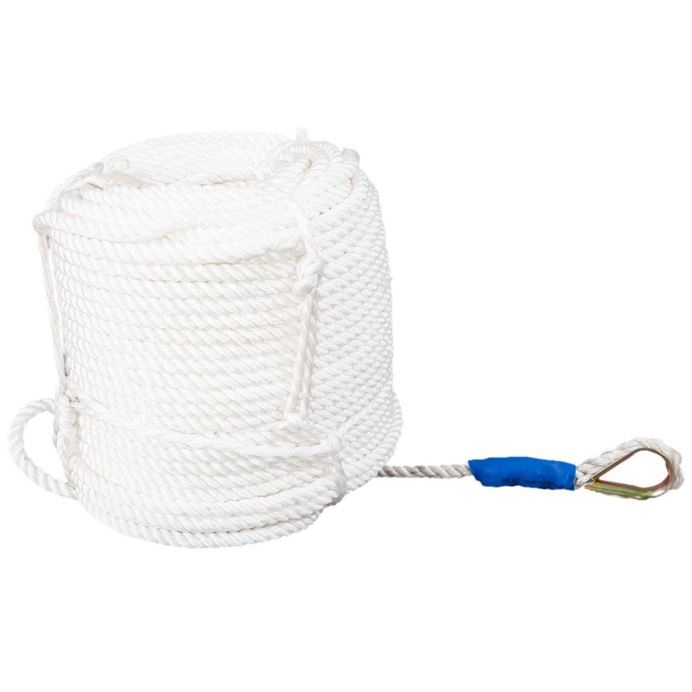 90m Professional Thick High Strength Mooring Rope White