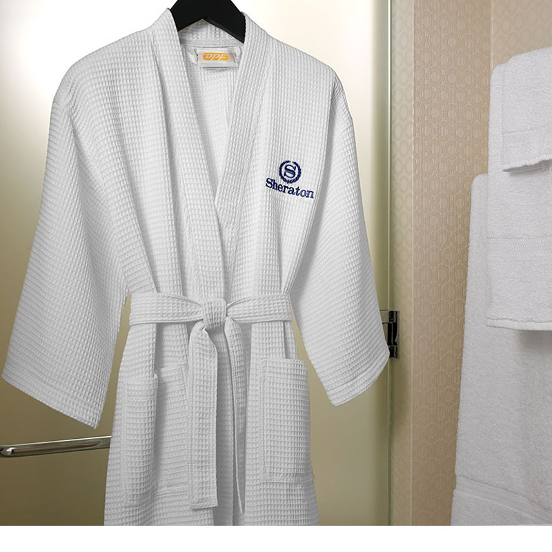 100% Cotton Waffle Kimono Bathrobe 167b81bce