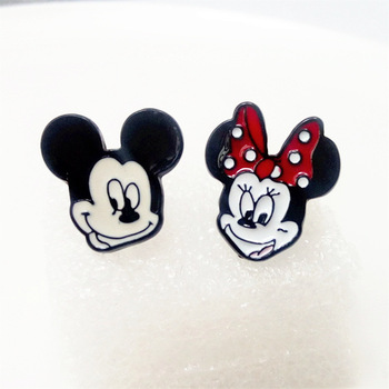 Cartoon Mickey Mouse Minnie Mouse Leuke Karakters Oorbel Oor Stud