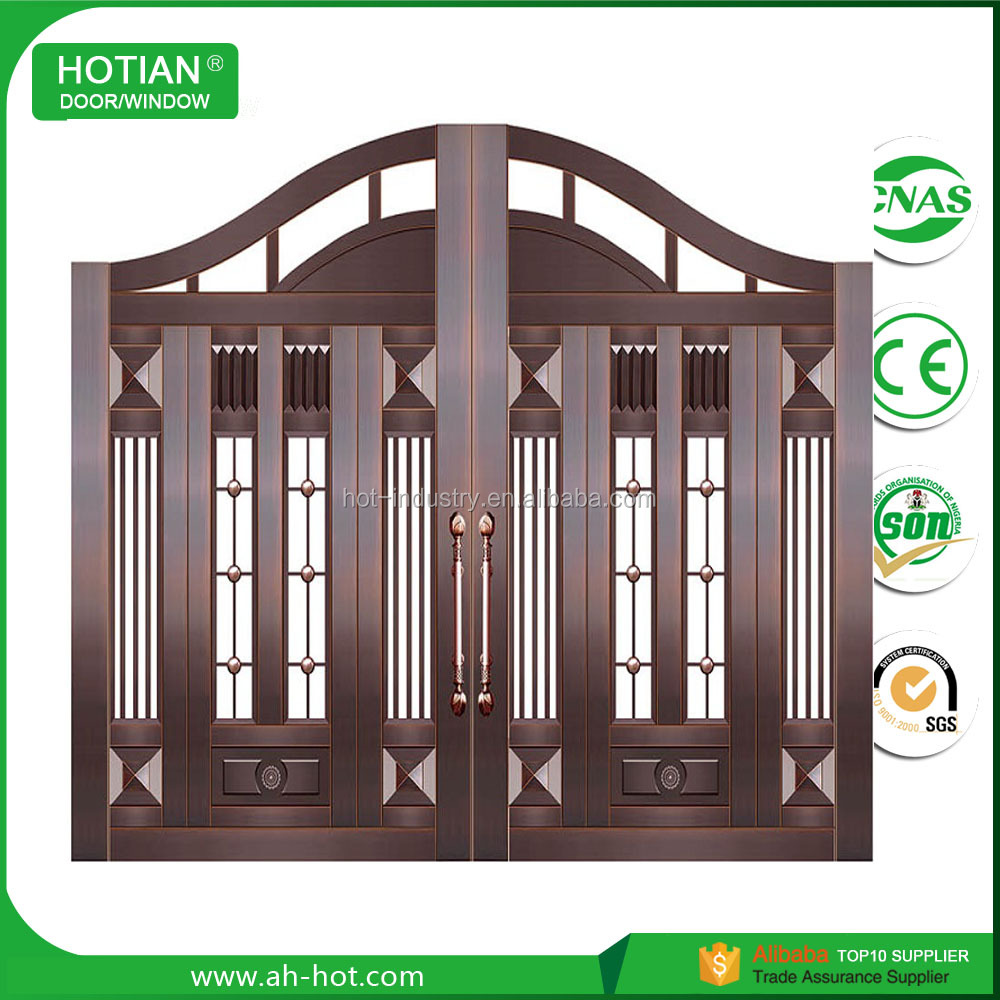 High quality entry copper door, copper gate for bank