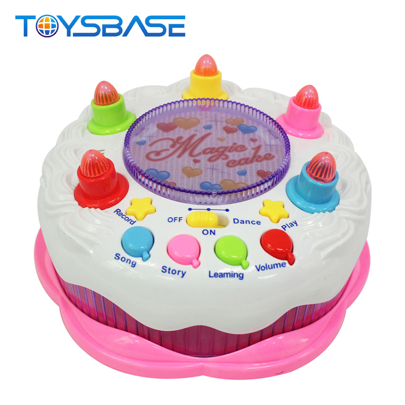 Intelligent Play Food Set Music And Light Plastic Birthday Cake Toy