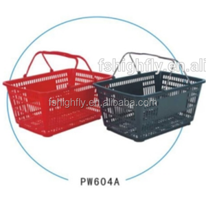 30L Collapsible PP Plastic Shopping Hand Basket with Handles