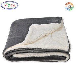 G724 Cheap Wholesale Price Sherpa Throw Blanket For Office Nap Time