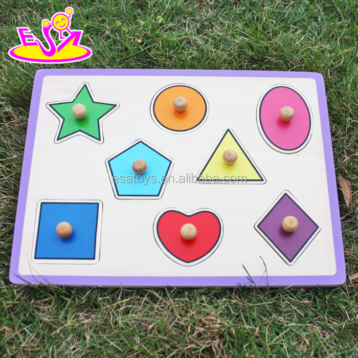 New lovely 3d car shapes wooden puzzle toy for kids W14M090