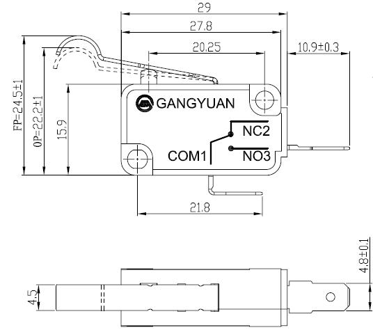 micro interrupteur double micro switch t 85 5e4 16a36vdc.jpg
