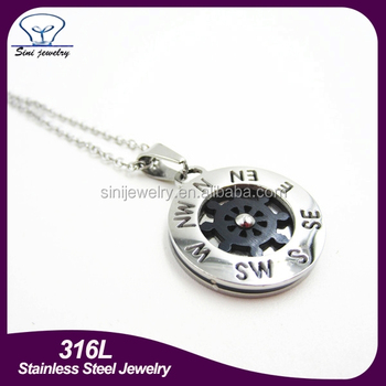 Stainless steel fashion dharma steering wheel of fortune black round stainless steel fashion dharma steering wheel of fortune black round circle pendants charms aloadofball Gallery