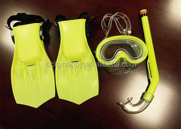2017 New Arrival Snorkeling diving mask and fins set for Junior and Kid