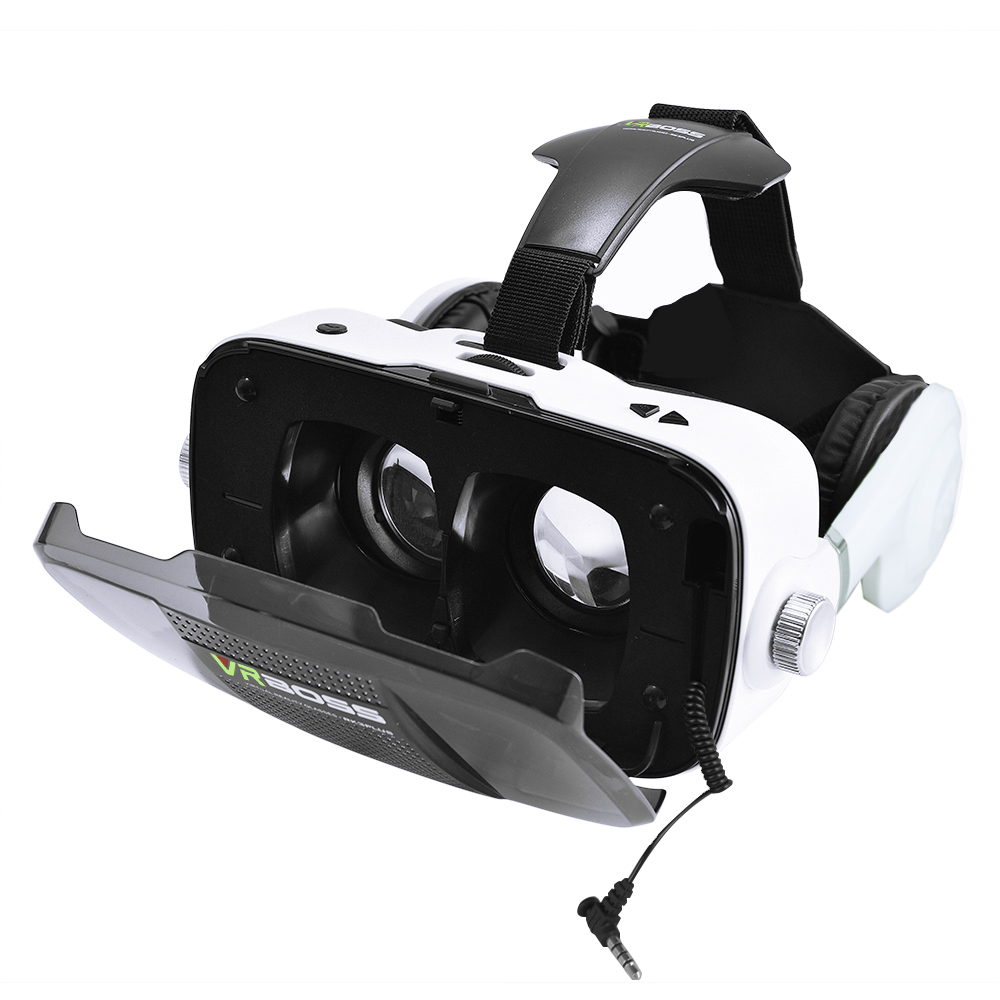 Virtual Reality Game Video Movie 3D Glasses VR Simulator with Mic Bluetooth Control via Smartphone