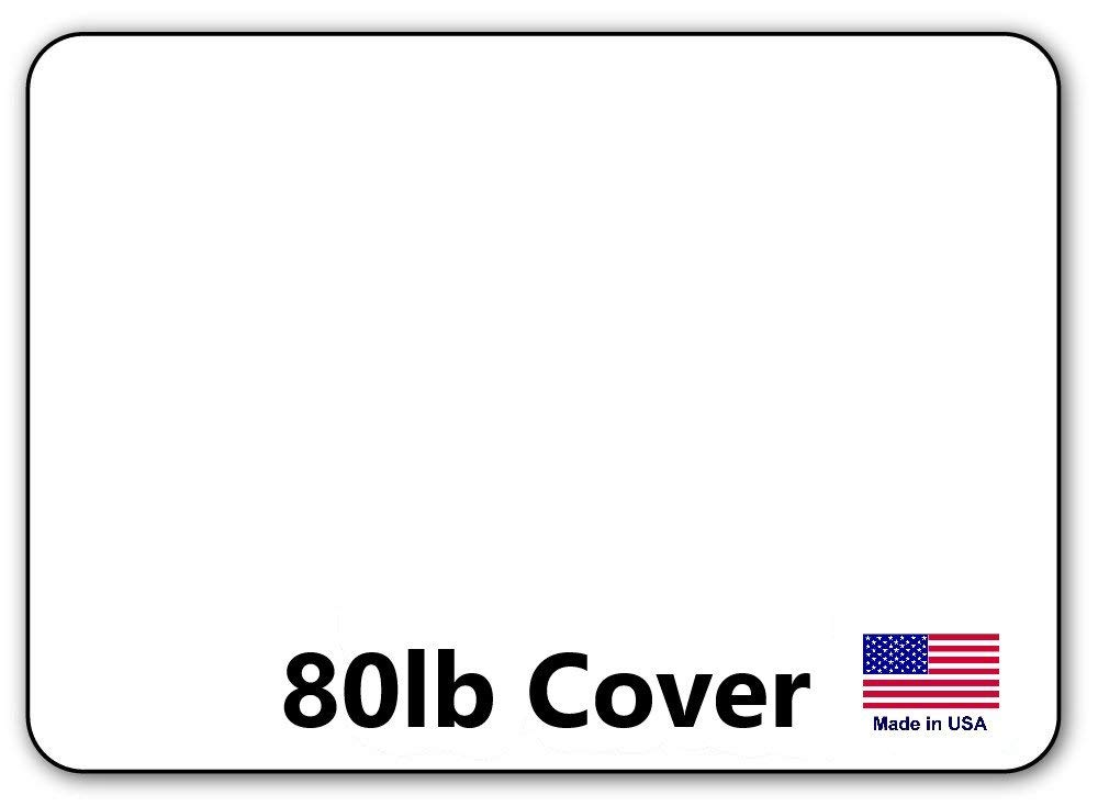 "Hamilco White Cardstock Thick Paper - Blank Index Flash Note & Post Cards with Rounded Corners - Greeting Invitations Stationary 5 X 7"" Heavy weight 80 lb Card Stock (100 Pack)"