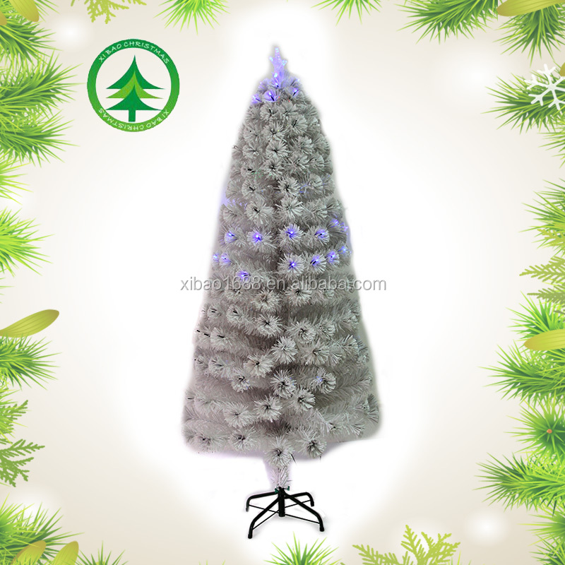 Full LED lights white christmas tree,hot sale artificial pvc christmas tree in China