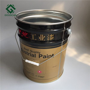 High quality empty 20 litre tin metal paint bucket with handle
