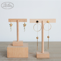 Custom Wooden Jewelry Ear Stud Earring Display Stand