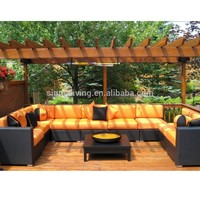 Modern garden furniture clearance outdoor sofa sets rattan sectional couches