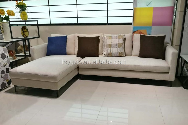 Living room European style living room fabric sofa
