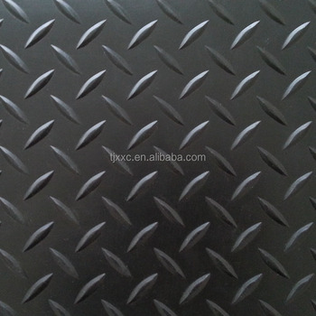 3 6mm Thickness Diamond Plate Gym Rubber Floor Mat