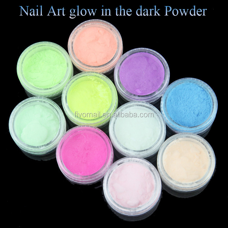 Glow in the dark powder pigment for nail art