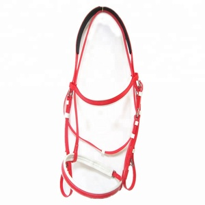 driving horse harness high quality fancy pvc race bridle