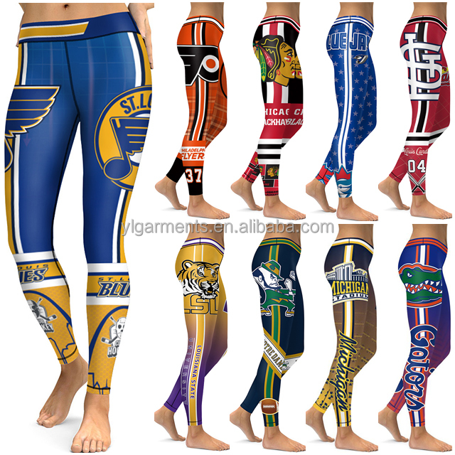 Women Fitness St. Louis Blues Hockey Team Leggings