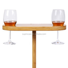 2014 new design bamboo wine cup rack,beach wine cup holder for sale