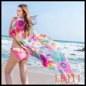 fec8a1b3e5 New Sexy Summer Women Chiffon Beach Dress Cover-up Spaghetti Strap Sheer  Beach Wear Swimwear