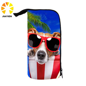 Promotional travel dog pen bag school pencil case for kids