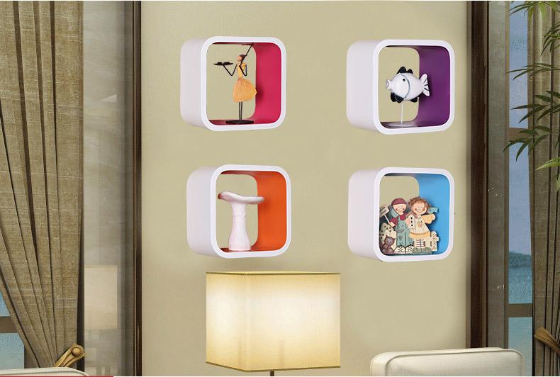 Decorare Mensole Legno : Specialità parete del cubo di legno mensole pensili per la