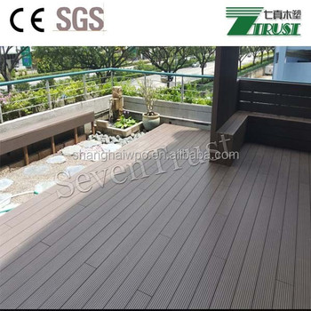 Seven Trust Wood Plastic Composite Materials Outdoor Decking Garden Flooring 150mm X 25mm