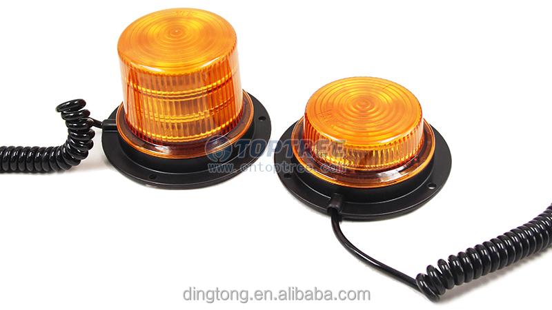 Tractor Amber Safety Lights : V led amber alarm lamp truck warning light magnetic