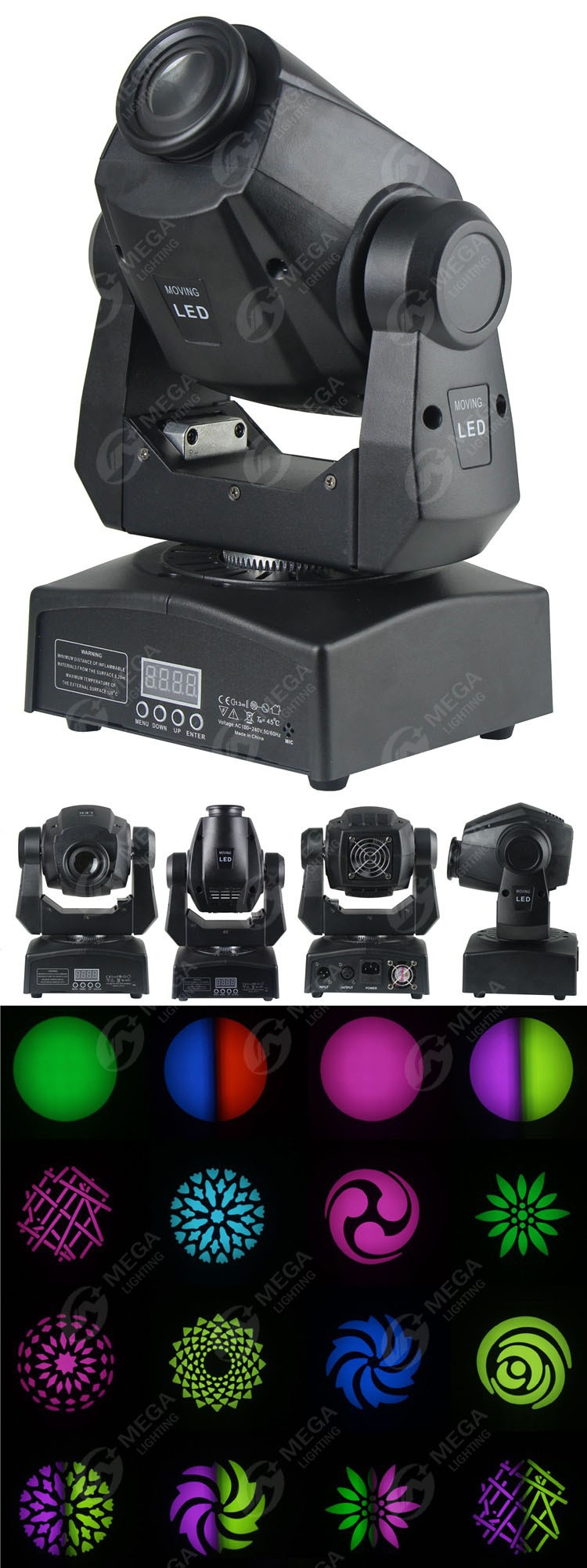 Gobo effect colorful changing led 60 watts spot moving head