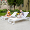 Luxury Aluminum White Garden Beach Pool Outdoor Chaise Lounge Chairs