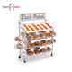 Food stores bread bakery shelf / floor basket display rack