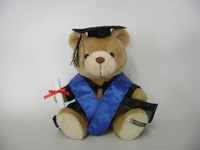Customized OEM ! Graduation Plush brown bear