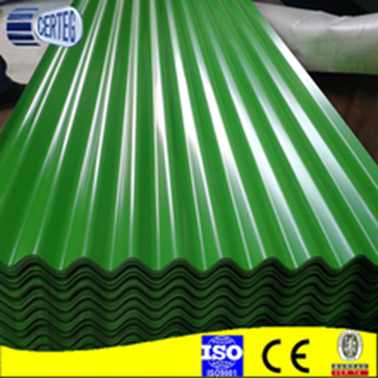 0.12mm Roofing Corrugated Prepainted Galvanized/PPGi steel sheet/wave height 17-18mm