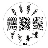 2015 new A Series A24 Nail Art Polish DIY Stamping Plates Image Templates Nail Stamp Stencil