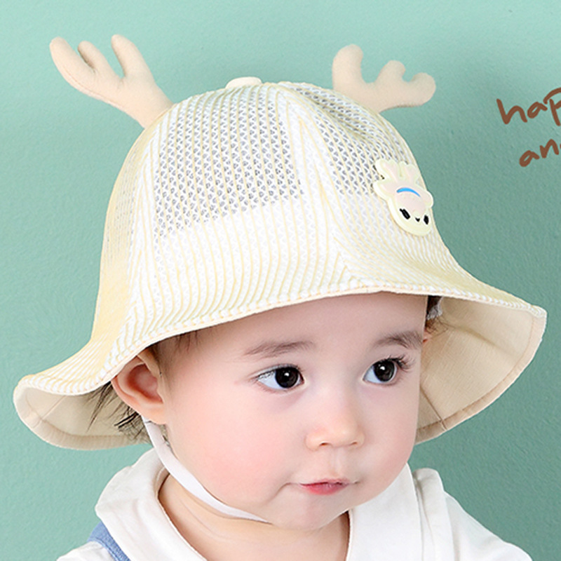 Mother & Kids Cute Summer Baby Hat Plaid Cotton Girls Bucket Hat With Rabbit Ears Soft Comfortable Newborn Sun Cap Infant Baby Girls Clothing Ample Supply And Prompt Delivery Accessories