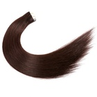 Double Drawn 2g/Piece Brazilian Hair 8 - 40 Inch Remy Tape In Hair Extensions Human Hair