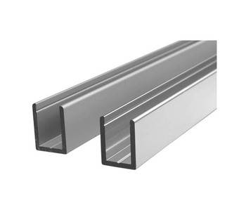Aluminium U Channel For Glass Shower Screens With Sliver Anodized - Buy  Aluminum Channel,Aluminum Track Channel,Aluminum Channel Frame Product on